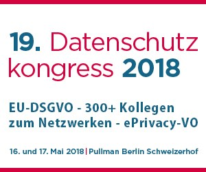 Data Protection Congress 2018 Berlin